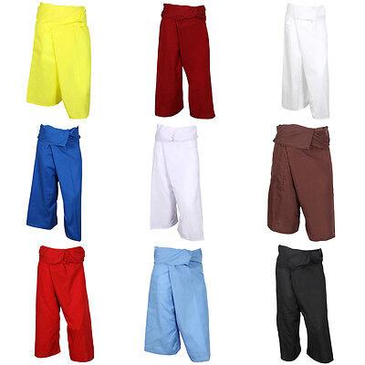 Thai Fisherman Trousers Pants Cotton ❤ Massage Yoga Pilates Tai Chi Pregnancy