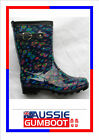 Gumboots Ladies Mid Length Bubbles Size 5 6 7 8 9 10 11 Buckle Wellies Women New