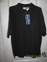Puritan Casual Golf Shirt Big Man Size 2xl Black Short Sleeve