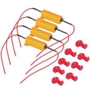 4x-50W-resistencia-de-carga-de-6-ohmios-para-fijar-Bombilla-LED-rapido-Hyper-Flash-Senal-de-Vuelta