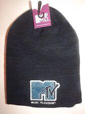 MTV Classico Logo Ricamato a lungo gettato Beanie (ORIGINALE)