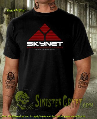 Skynet T-Shirt Terminator Cyberdyne Systems Sci-Fi Movie Film Vintage S-6XL