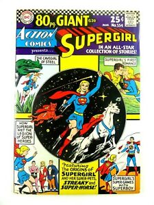 DC-ACTION-COMICS-1966-334-Silver-Age-SUPERGIRL-Origin-VF-8-0-Ships-FREE