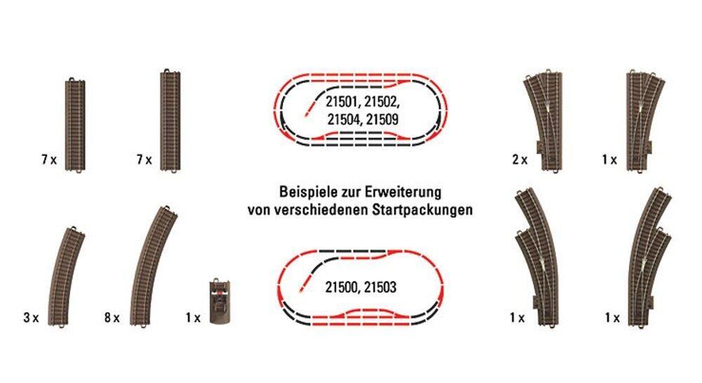 Trix Ho 62900 Grande Gleis Ergänzungs Set 31 Pezzi   Nuovo in Scatola Originale