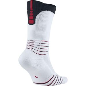 Nike Elite Versatility Crew Socks White Red SX5369-103 Sz S M L XL ... 852d8378ed9