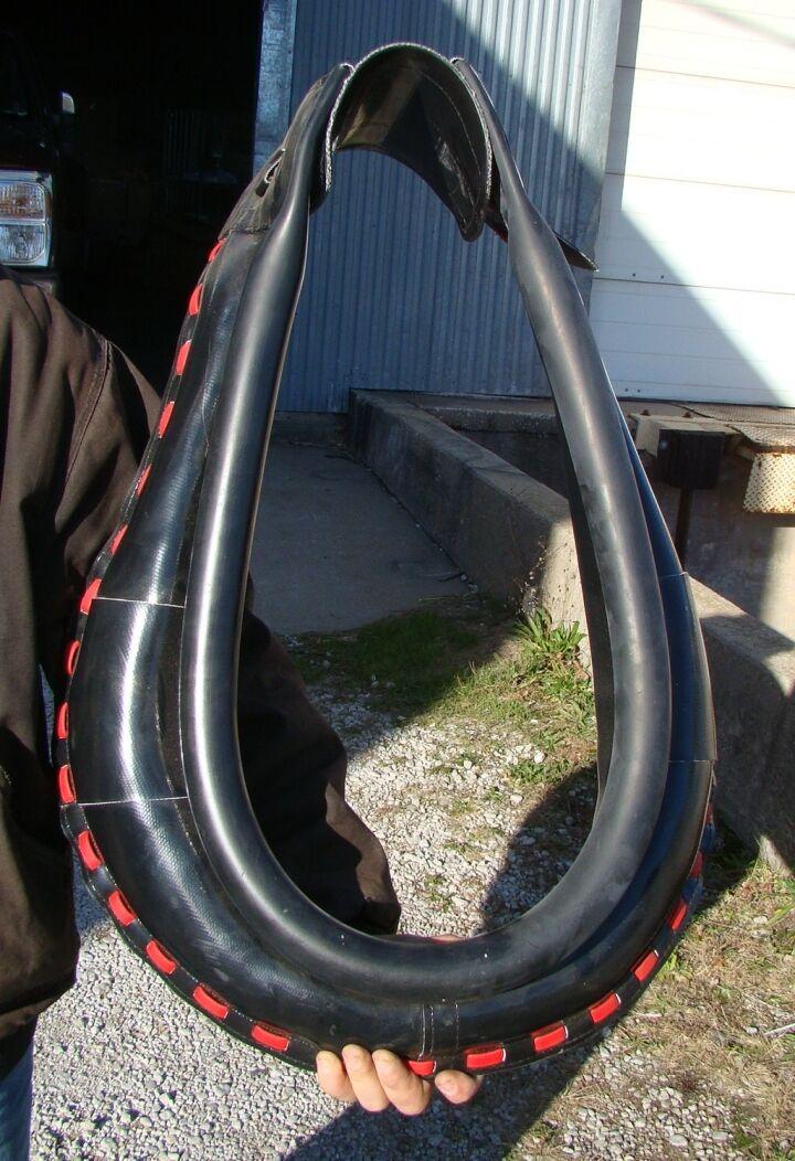 nuovo cavallo drawn autoegratuito collar any Diuominiione 24 to 30 Coloreeeosso trim  fatto IN USA
