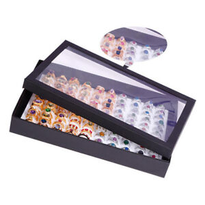 Quality-Jewelry-Ring-Earring-Display-Box-Tray-Holder-Organizer-Storage-Show-Case
