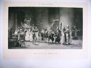 Art Phototypie Xixe D'après F. Bridgman - Procession Du Boeuf Apis Avwfa21a-10040248-348140577