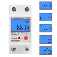 KKmoon Num/érique Din Rail LED Amp/èrem/ètre Tension Current Meter Oltm/ètre AC80-300V 0.2-99.9A Affichage Duel