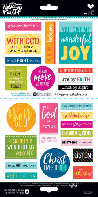 Bella Blvd Illustrated Faith Go and Tell Cardstock Stickers Bible Journal