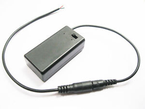 9V-9volts-PP3-Battery-Holder-Box-Case-With-Cover-Switch-DC-2-1-5-5mm-Power-Plug