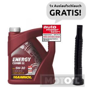 Motoroel-5W-30-5-Liter-MANNOL-Energy-Combi-LL-BMW-LL04-VW-MB-AUSLAUFSCHLAUCH