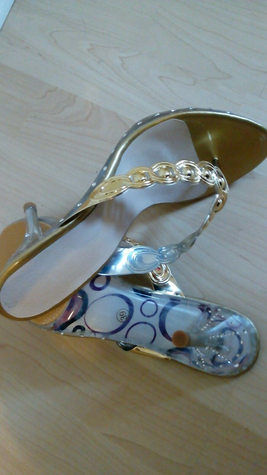 STILETTO SLIP ON  ELEGANT CLASSIC LUXURY SLIPPERS-GOLD SIZE SIZE SIZE 39 afd97a