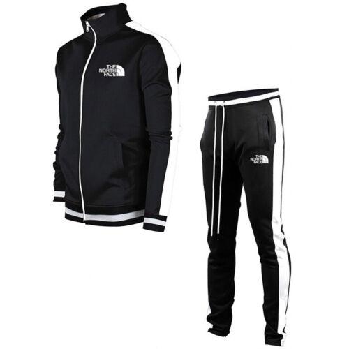 Men Tracksuit Sets Joggers Bottoms Trousers Sportswear Coat Gym Zip Jacket Pants