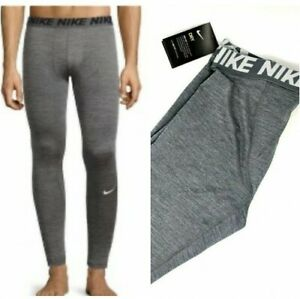 71fdaaa7703d8 Nike Men's Pro Dri Fit Training Tights Gray / Grey & White Large ...