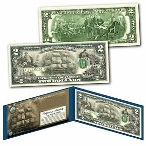 CONFEDERATE-SHIPS-Banknote-of-The-American-Civil-War-Legal-Tender-on-New-2-Bill