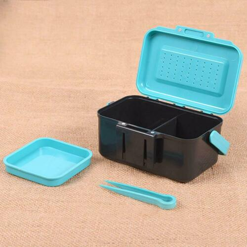 Breathable ABS Plastic Fishing Bait Earthworm Worm Lure Tackle Storage Box