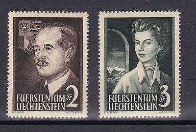 Briefmarken Aus Dem Ausland Importiert Liechtenstein 1955 Postfrisch Minr 332-333 Fürstenpaar Geschichte