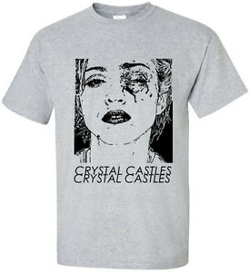 New-Madonna-Crystal-Castles-2-pop-music-dance-singer-unisex-Grey-t-shirt
