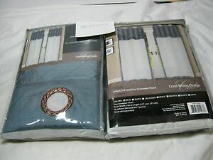 New Crest Home Design Utah Grommet Window Panels 2(54x84) Seafoam ...
