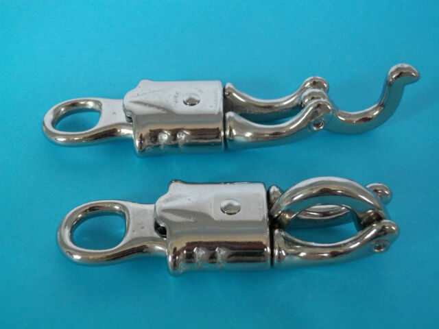 """Quick Release Clip Panic Hook Nickel plated 100mm 4/"""" Bondage Equestrian Bridle"""