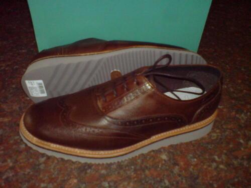 Clarks Original Herren Frei Dip Brogue Hellbraun, Brown, Grau Lea UK 7,8, 9,10,
