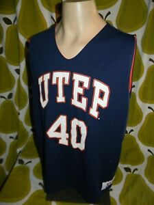 reputable site c9801 641c0 Details about vtg 90's University of Texas UTEP MINERS reversible  basketball jersey men's L