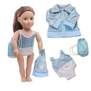 Doll Clothes Blue Swimsuit Set for 18   American Girl Our Generation ... e236284e5