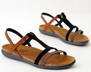 93130f56ca2e Naot Judith Coffee Black Cinnamon Sandal Women s sizes 5-11 36-42 ...