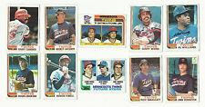 VINTAGE 1982 TOPPS BASEBALL CARDS – MINNESOTA TWINS – MLB