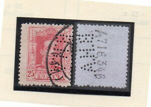 Espana-Valor-con-perforado-comercial-B-H-A-del-ano-1922-30-DH-359