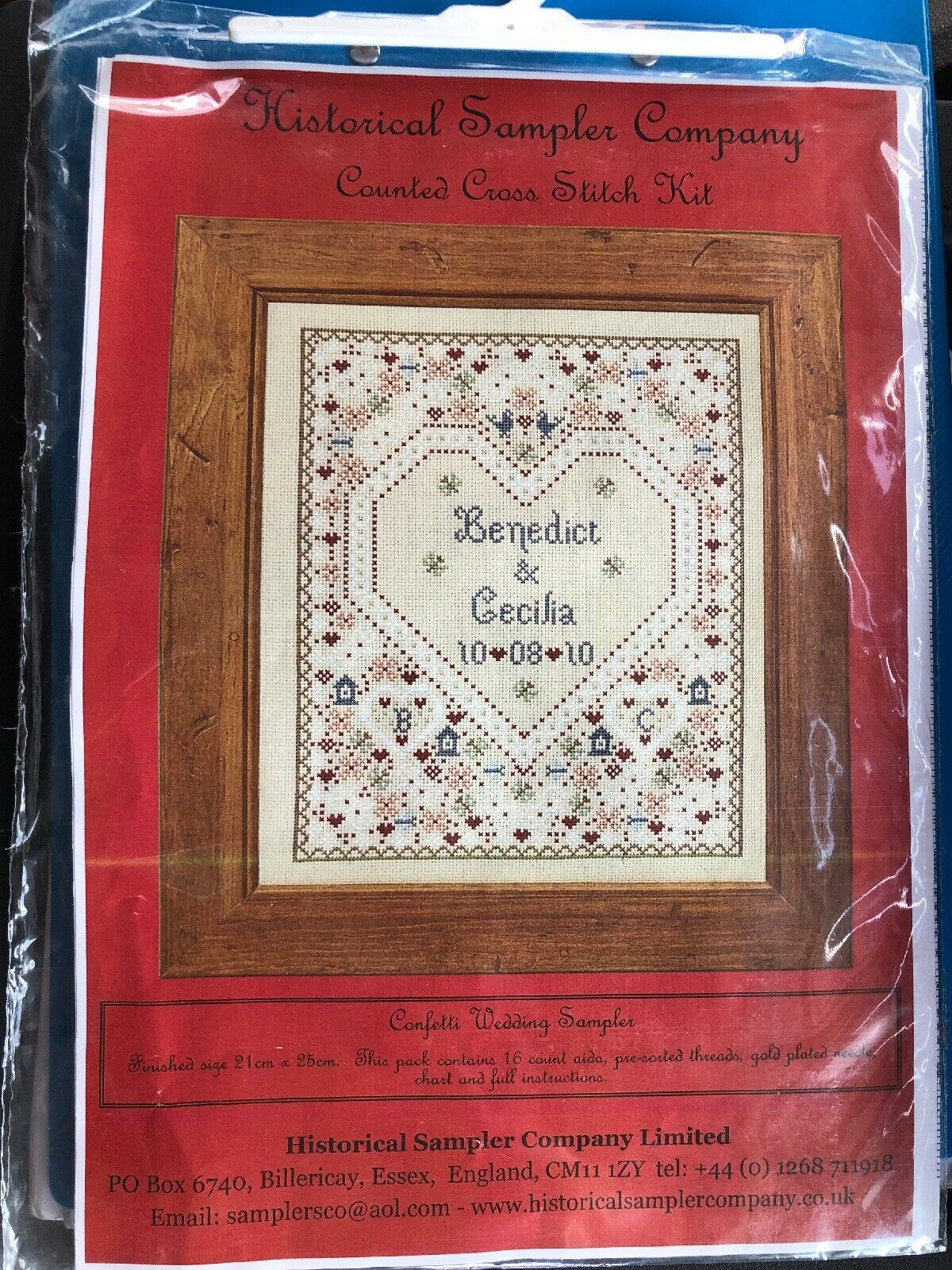 LOVE SAMPLER COUNTED CROSS STITCH KIT 14 COUNT AIDA 28x36CM