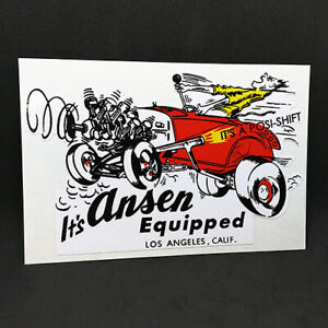 It's Ansen Equipped Vintage Style DECAL, Vinyl STICKER, racing, hot rod, rat rod