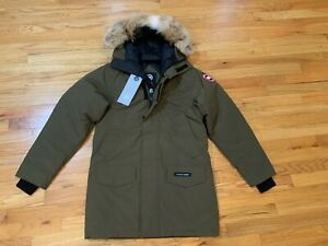 NEW-CANADA-GOOSE-MENS-LANGFORD-PARKA-S-M-L-MILITARY-GREEN-INSULATED-DOWN-2062M