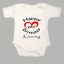 Happy 60th Birthday Nanny Funny Heart Baby Grow Body Suit Vest Great Gift Black