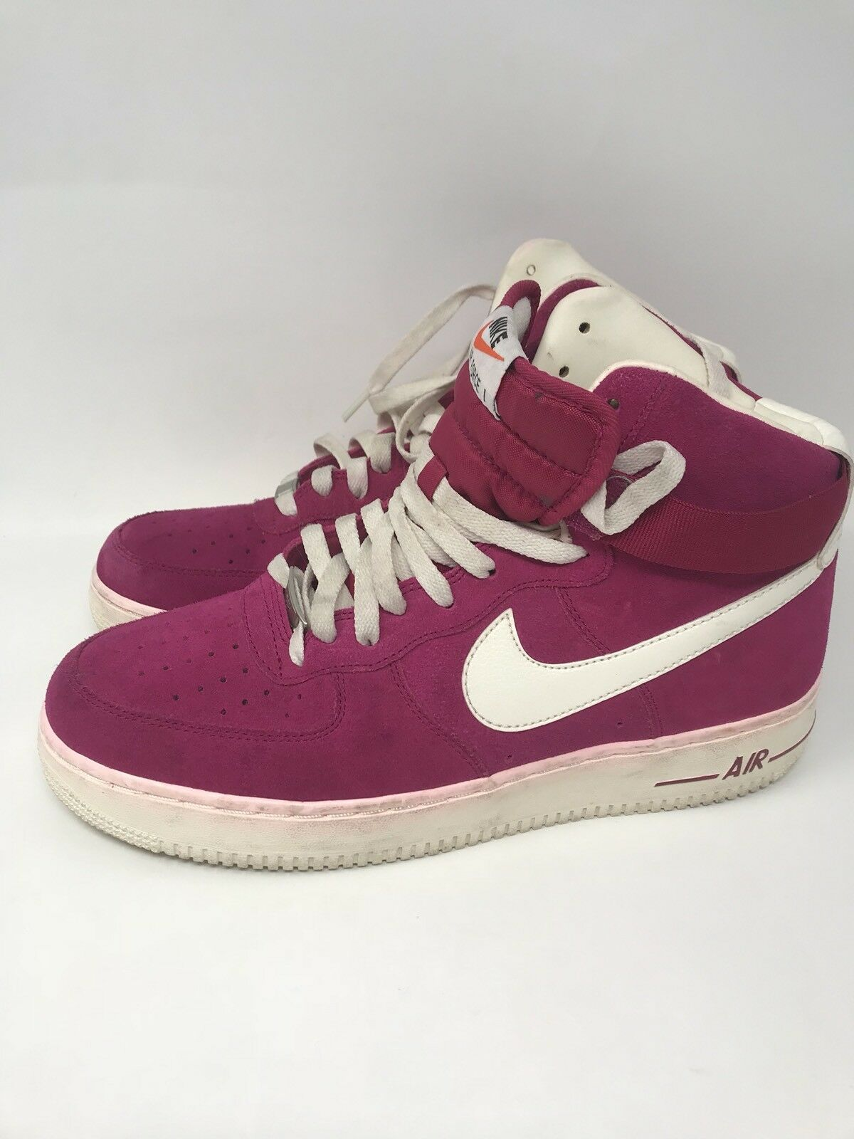 Rare Nike Air Force 1 High Blazer Pack shoes 315121-602 Fuchsia Pink sz 10 Suede