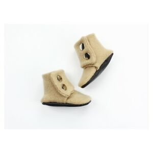 """Details about Baby Wool Boots Sz 34 4.25"""" Inches 100% Wool Handmade Baby Boots Beige Tan"""