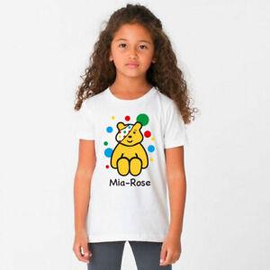 Personalised-CHILDREN-IN-NEED-KIDS-TSHIRT-Top-2020-Pudsey-Dress-Up-Boys-Girls