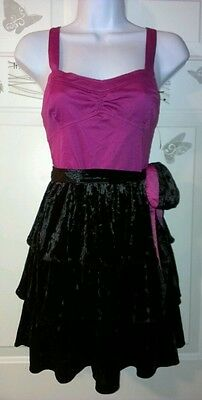 New Aeropostale Cute Pink and Black Velvet Dress Size Large
