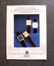 [GCG] I801 - Advertising Pubblicità -1979- SEIKO QUARTZ LE CONNAISSEUR