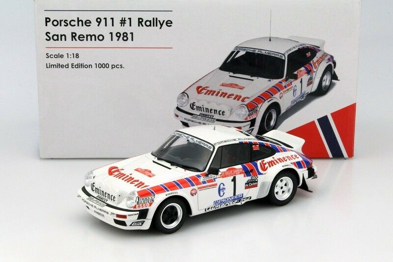 Otto Mobile Porsche 911 SC Groupe 4 Rallye San Remo 1981  18 LE of 1000 New