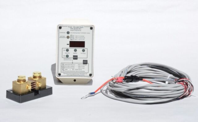 Bogart TriMetric 2030-RV Solar Battery Monitor Meter w/ 500 Amp Shunt Fuse Cable