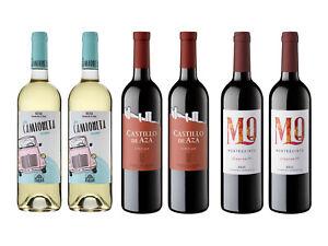 6 botellas vino 2x Verdejo rueda 2x Ribera Duero Aza Roble 2x Rioja Montequinto