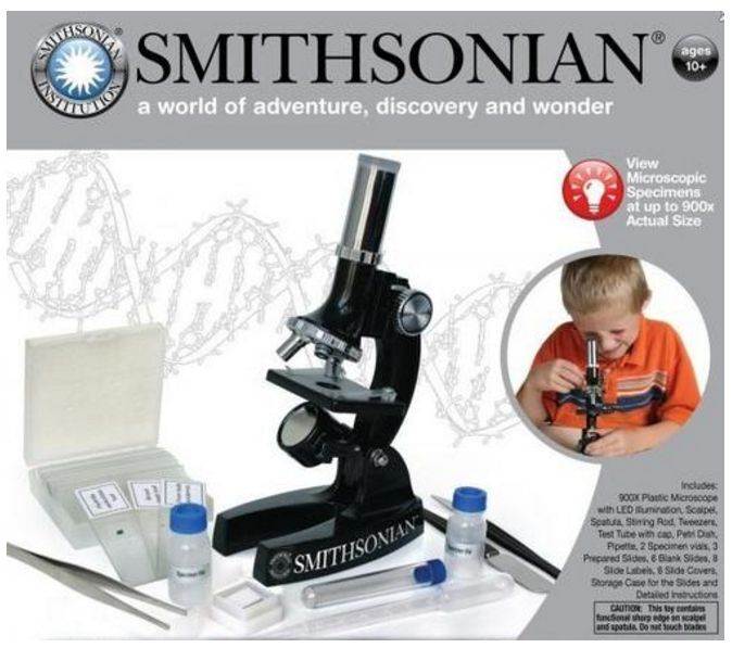 300X-600X-1200X Educational Beginner Biological Microscope Kit with Metal Frame