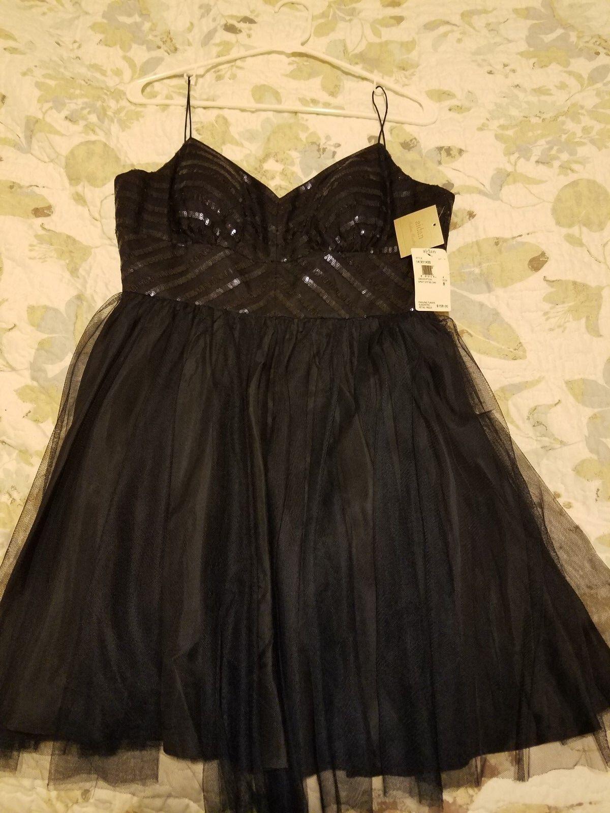 New dark Blau cocktail dress with tag Größe 8