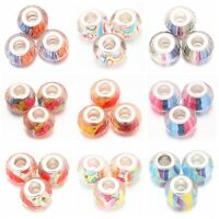 30/150pcs Transparent Colorful Resin Beads Fit Bracelets European Charms Lots D