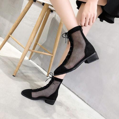Stivaletti stivali sandali estivi donna nero perforati 4 pelle sintetica 1162