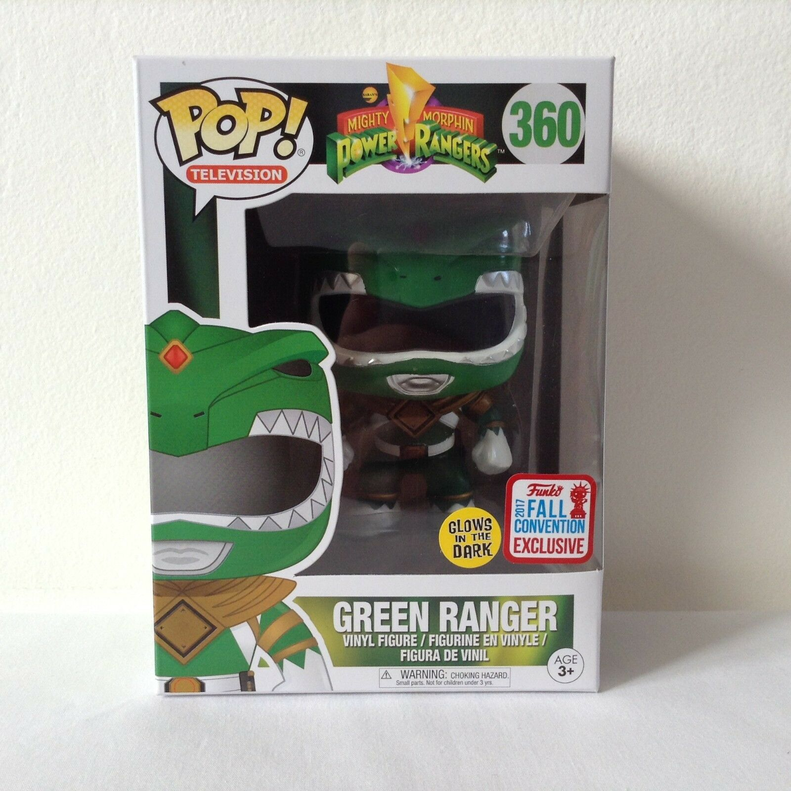POWER RANGERS METALLIC Grün NYCC 2017 FUNKO POP  VINYL FIGURE - LIMITED EDITION