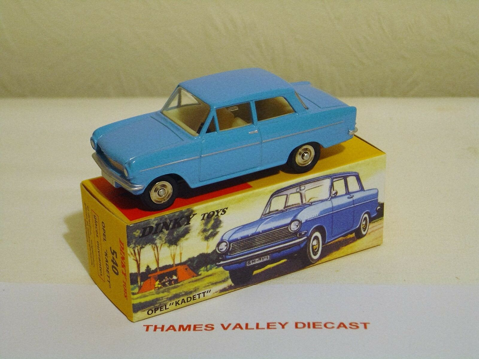 ATLAS EDITIONS DINKY TOYS, 540, OPEL KADETT, PALE blueE, + CERT OF AUTH