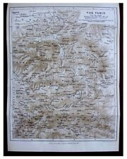 1892 Littledale - ACROSS THE PAMIR - Kirgiz Tribe - COLOR ROUTE MAP - 1